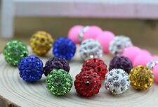 10mm 100pcs/lot wholesale free shipping mix color hot bracelet shamballa beads