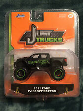 JUST TRUCKS JADA 2015 1:64 DIECAST 2011 FORD F-150 SVT RAPTOR BLACK