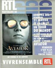 PUBLICITE ADVERTISING 096  2005   Radio RTL  Leonardo di Caprio Aviator