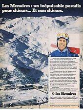 PUBLICITE ADVERTISING 015 1970 LES MENUIRES un inépuisable paradis