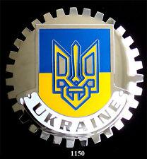 CAR GRILLE EMBLEM BADGES -  UKRAINE(FLAG)