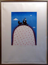"Mackenzie Thorpe ""Family On A Hill"" H.Signed with custom frame Make an Offer!"