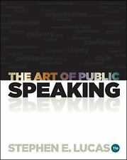 """GOOD CONDITION""  THE ART OF PUBLIC SPEAKING 11TH US EDITION (2011) Lucas"
