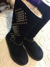 Women's UGG Australia Avondale Black Studded Suede Boot Size 8-8.5