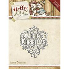 Find It Trading Yvonne Creations Merry Christmas Holly Jolly Die YCD10075