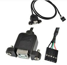 USB 2.0 B Female to 2.54mm 5 Pin MB Motherboard Female with Panel Mount Cable