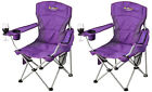 2 X OZTRAIL MODENA SPORT (PURPLE) Folding Camping Picnic Arm Chair