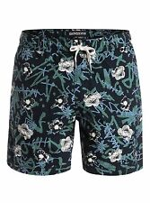 "Quiksilver Dark Ritual Turbo Dog Elastic 17"" Walkshorts Shorts Sz Medium"