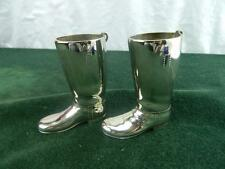 Vintage  pair Sliver plated  Riding boots spirit / drink measures
