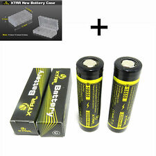 2 Xtar 18650 Batteries 2200mAh IMR 25A 3.7v Unprotected Flat Top - Li-ion IMR