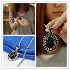 Fashion Charm Jewelry Crystal Choker Chunky Statement Bib Pendant Chain Necklace