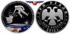 Russia 3 rubles 2015 First Man in Outer Space Ag 1 oz PROOF