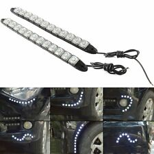 2x Flexible Strip 12LED Car Daytime Running Lights DLR Driving Daylight Fog Lamp