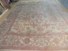 10' X 14' Vintage Hand Made Turkish Oushak Mahal Sultanabad Wool Rug Carpet Nice
