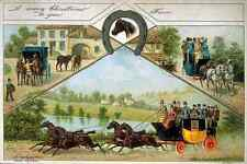 041 Changing Horses Returningfrom Ascot Vintage Photo Print A4