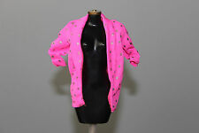 Barbie doll and the Rockers Hot pink long sleeve shirt 1980s silver polka dots