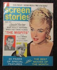1961 SCREEN STORIES Magazine #5 VF- Marilyn Monroe (4 pgs) The Misfits