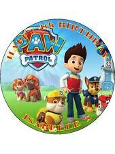 """Paw Patrol-Design 1 personalizzato 7.5"""" CERCHIO GLASSA cake topper"""
