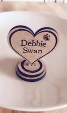 Wedding table name place seating personalised wooden heart on stand laser engrav