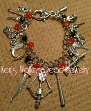 "**❤��❤My ALL NEW Walking Dead Charm Bracelet❤��❤** includes""Lucille"""