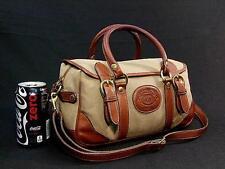 Vintage Ghurka No. 218 Mini Kilburn Vintage Twill & Leather Purse Shoulder Bag