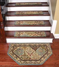 Dean Tape Free Pet Friendly Carpet Stair Treads Panel Kerman Cloude w/HearthMat