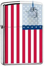 Zippo 7959 american flag US Lighter & Z-PLUS INSERT BUNDLE