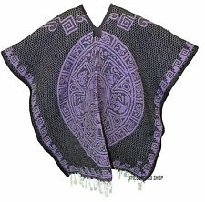 HEAVY BLANKET Mexican PONCHO -MAYAN PURPLE - ONE SIZE FITS ALL Serape Gaban