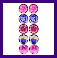 Pack of 10 Handmade Scented Flower Tealight Candles
