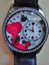 Alice in Wonderland Red Queen Collectible Watch MINT in Box FREE SHIP!