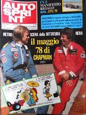 Autosprint n°28 1978 Ronnie Peterson Mario Andretti  [P27]