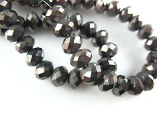 Hot Sale 100P 6x4mm Crystal Faceted Glass Beads Loose Spacer Rondelle Findings