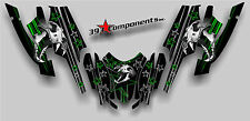 Arctic Cat Firecat Sabercat F5 F6 F7 2003-2006 Graphics Decal Skull Cat Green