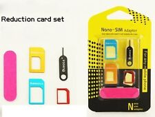 5in1 Nano Micro Standard SIM Card Cutters Adapter Converter Kit for All mobile