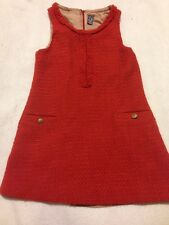 Zara Kids 7-8, Girls Orange Sleeveless Dress