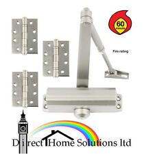 1 HR FIRE RATED DOOR CLOSER + 3 STAINLESS STEEL Grade 13 BALL BEARING HINGES 4""