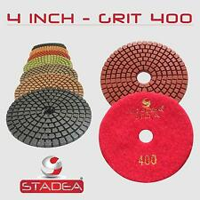 "STADEA 4"" Diamond Polishing Pad Grit 400 for Granite Concrete Wet Grinder Floor"