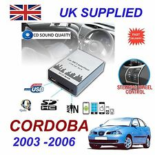 SEAT CORDOBA 2003- 2006 MP3 SD USB CD AUX Input Audio Digital CD Changer Module
