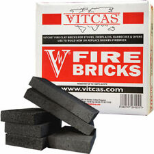 VITCAS Replacement Fire bricks for Stoves & Fireplaces - Black