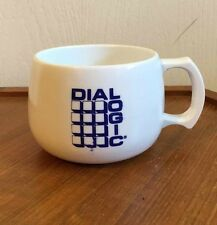 Dial Logic Dialogic Vintage Mug Computer Technology Advertising Promo Wide Cup