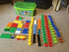 Pre Owned but Complete LEGO DUPLO Set of 107 Blocks in Green Box.  #107.