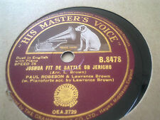 PAUL ROBESON JOSHUA FIT DE BATTLE OF JERICHO  HMV B8478