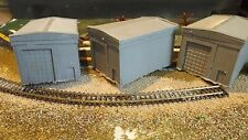 N-Scale 3 Unfinished Small Engine Buildings Model Train Detail Accessories