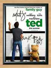 Ted Movie Mark Walhberg Milu Kunis Signed Autographed A4 Print Photo Poster Film
