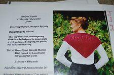 Ridged Eyelet Shawlette Knitting pattern by Judy Pascale
