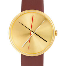 "Projects Watches ""Crossover Brass"" Quartz Steel Gold Leather Brown Men's Watch"