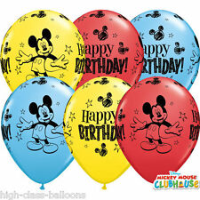 "5 x Disney Mickey Mouse HAPPY BIRTHDAY 11"" Latex Balloons  Ideal for Birthdays"