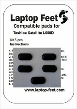 Laptop Rubber feet compatible for Toshiba Satellite L650D/Pro C650  (5p. 3M adh)