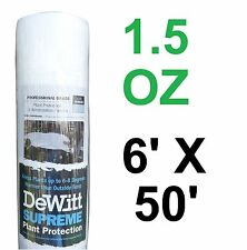 DeWitt Supreme 650 6' X 50' 1.5 oz N-Sulate Frost Cloth Plant Freeze Protection