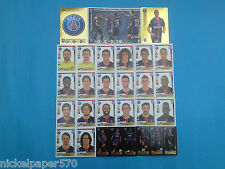 Panini Fifa 365 stickers soccer Team Paris Saint Germain 2015 2016 completo